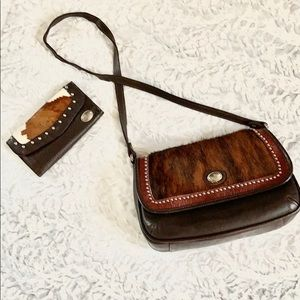 American West hand made bag and wallet